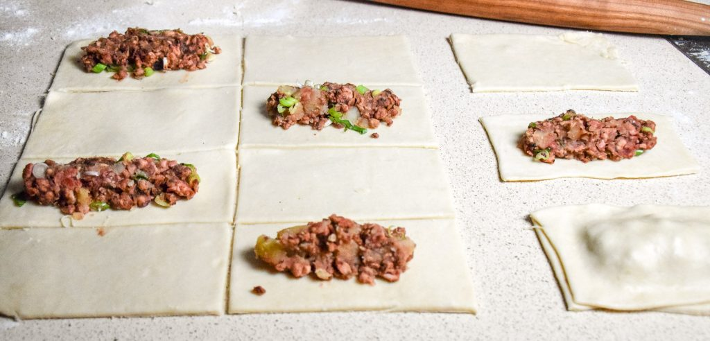 corned tempeh pasties