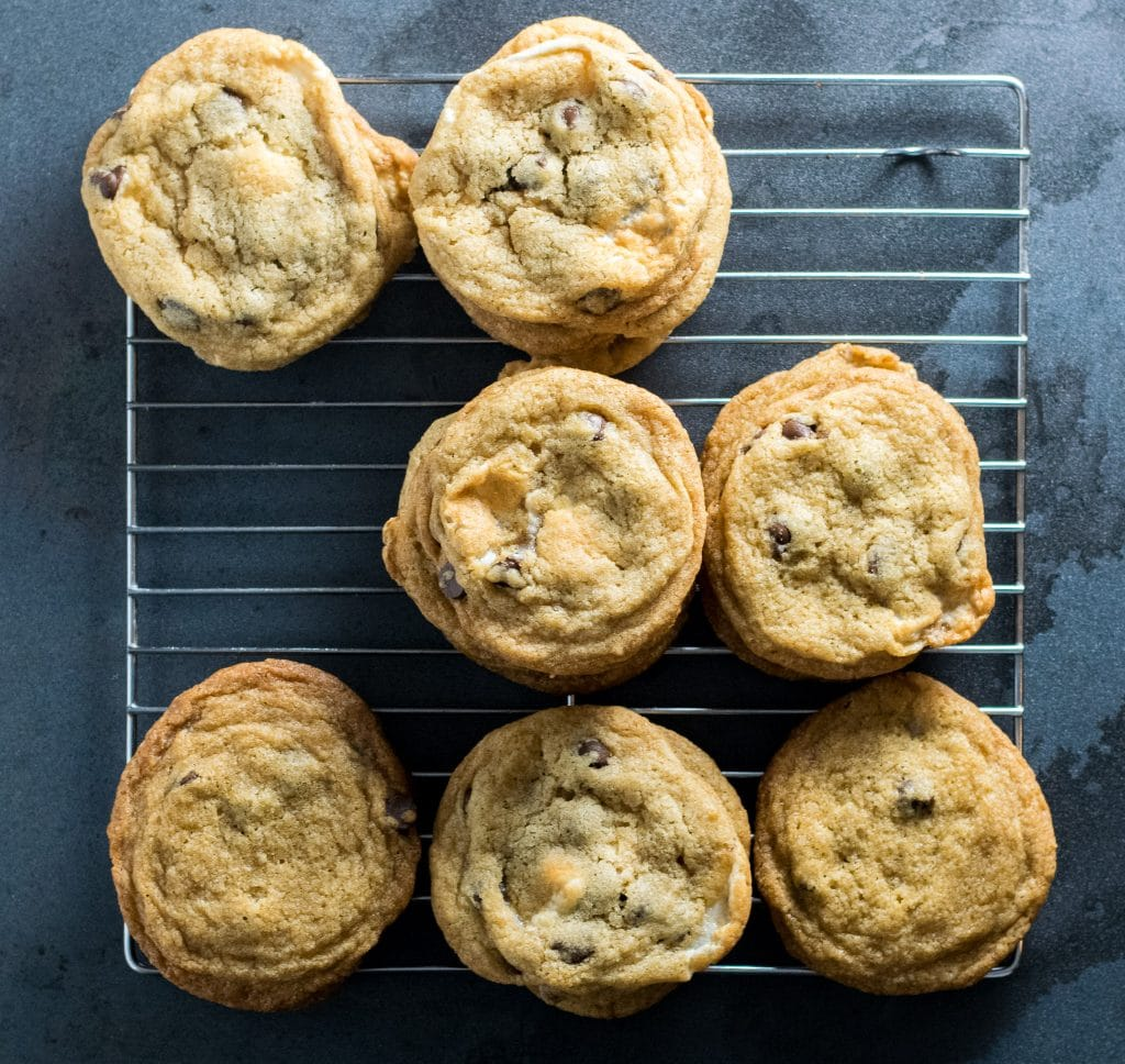 vegan chocolate chip marshmallow cookies